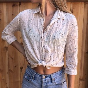 Polka Dot Top. Urban Outfitters. Small.